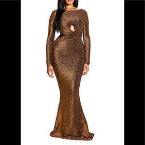 Shiny Glitter Mesh Cut Out